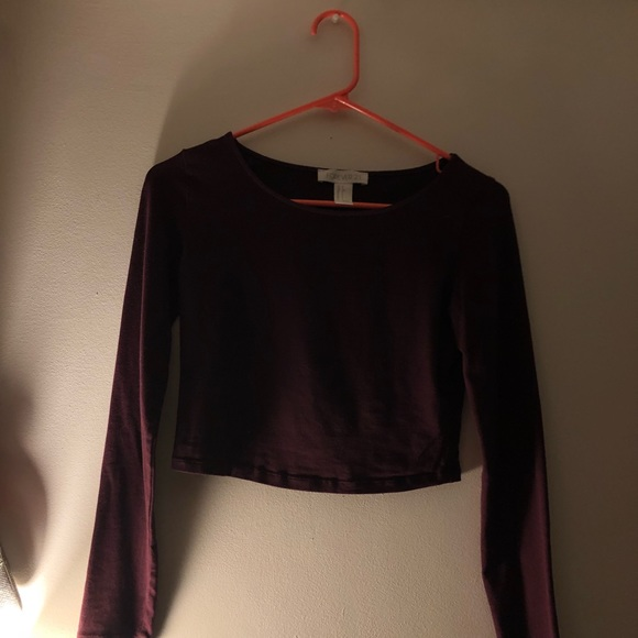 Tops - Maroon long sleeve